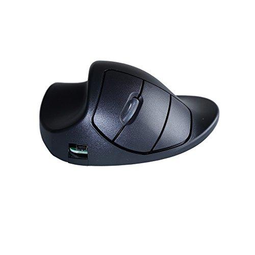 Hippus Wireless Light Click HandShoe Mouse (Left Hand, Small, Black)