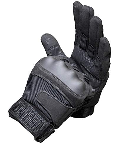 TAC9ER Tactical Gloves with Kevlar - Hand Protection Airsoft Gloves Cut and Temperature Resistant with Touchscreen Finger - Small