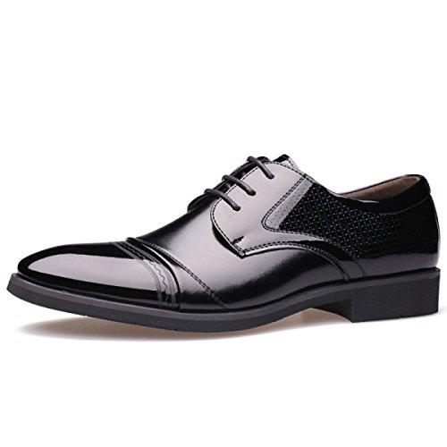 Chaussures Hommes Chaussures Basses Hommes Dentelles Chaussures Pour Business en Chaussures Black Wear LEDLFIE Formal Simples Fashion Conseils Cuir Ep1OOq