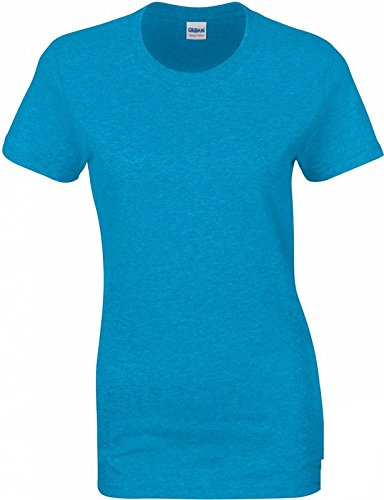 Heavy Cotton Ladies T-Shirt L,Heather Sapphire