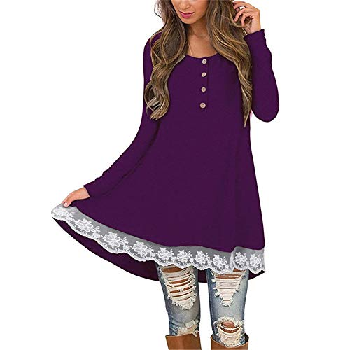 Oversize shirt Da Purple Yuch T Casual Donna 0Hq4Rw