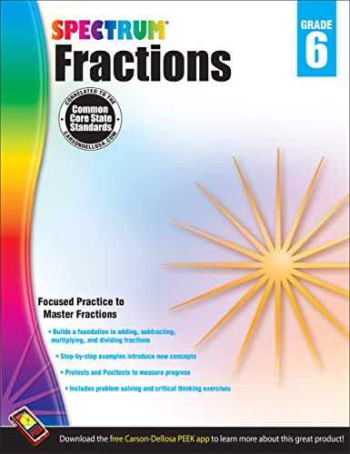 Fractions Workbook, Grade 6 (Spectrum)