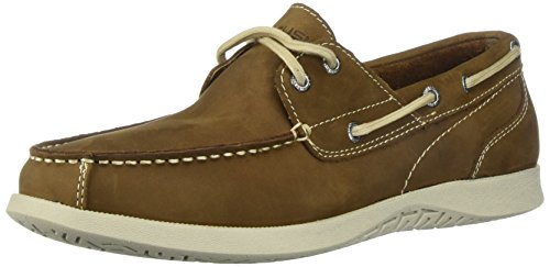 Nunn Bush Men's Bayside Boat Shoe Two Eye Oxford, Tan, 11