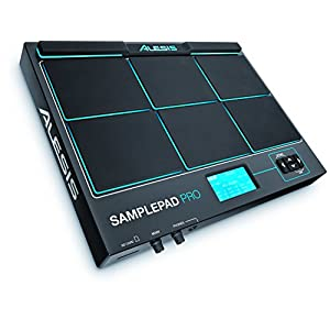 Alesis SamplePad Pro – Pad Strumentale a 8 Battenti in Gomma Bi-Zona e Trigger di Campioni, Illuminazione Attiva, e oltre 200 Suoni Interni