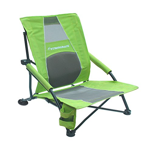 STRONGBACK Low Gravity Beach Chair with Lumbar Support, Lime Green best to buy