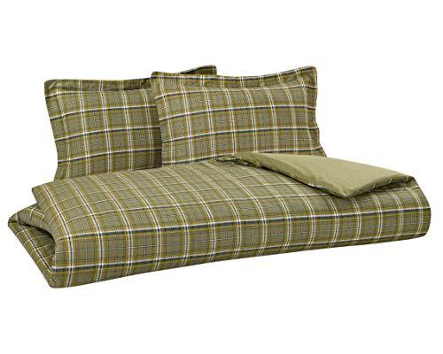 - DELANNA Flannel Reversible Duvet Cover Set 100% Cotton 1 Duvet Cover 102