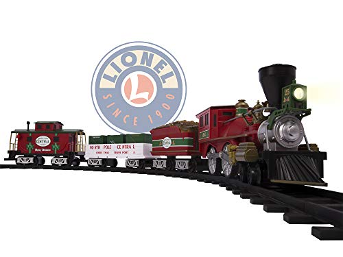 Lionel North Pole Central Battery-powered Model Train Set Ready to Play w/ Remote (Best Train Set For 5 Year Old)