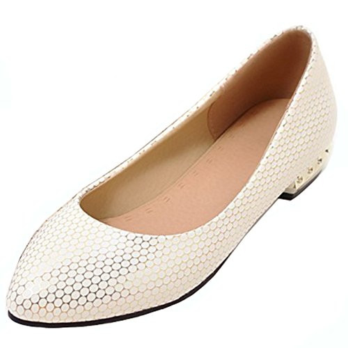 Womens Pointed Wear Toe Work Low Slip Driving Flats Shoes Dress Gold Office Aisun On Cut To Stylish qFdwpIp