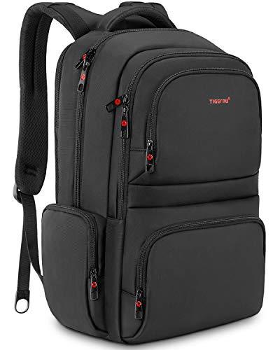 KUPRINE 15.6 inch Anti Theft Slim Travel Men's Laptop Backpack Bag, Lightweight Business Large College Computer Backpacks for Laptops in Black -