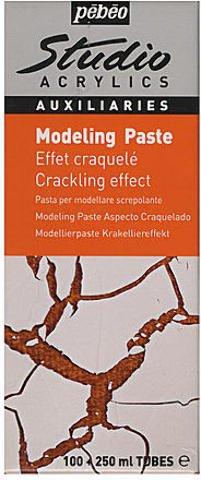 Pebeo Studio Acrylics Crackling Effect Modeling Paste 1 pcs sku# 1873849MA