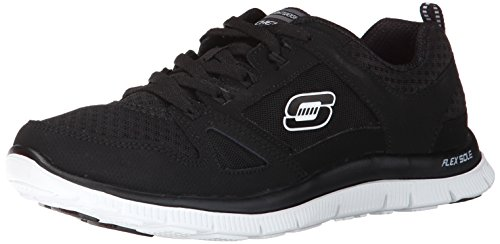 Skechers Flex AppealAdaptable Damen Sneakers Schwarz (Bkw)