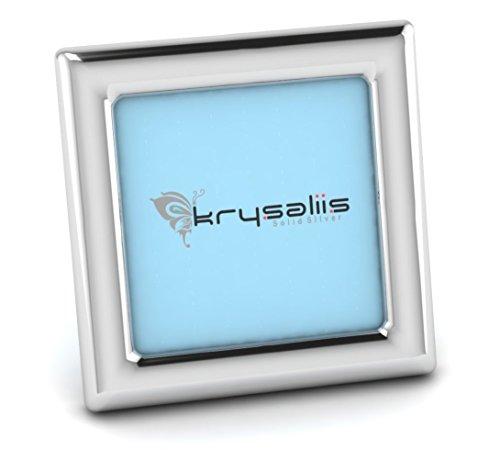 Photo Square Sterling Frame Silver (Krysaliis Sterling Silver Classic Square Frame - Blue Stand)
