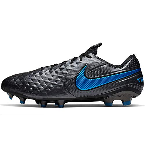 Nike Tiempo Legend 8 Elite Firm Ground Soccer Cleats (11, Black/Blue Hero)