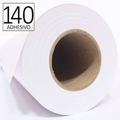 HR 10675050140AD – Rollo de papel inkjet ADHESIVO de alta resolución de 140 gr, 1067 mm x 50 mtrs, para todo tipo de plotters, 1 ud/caja: Amazon.es: Oficina y papelería