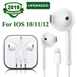 Earphones Earbuds Headphones with Microphone and Remote Control, Compatible with iPhone X/Xs Max/XR 7/8/8Plus iOS 10/11/12 Plug and Play