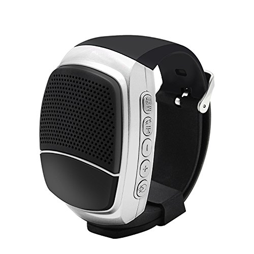 YouVogue Upgraded Multi-functional Bluetooth Watch Speaker: Mp3 Music Player (Silver) by YouVogue