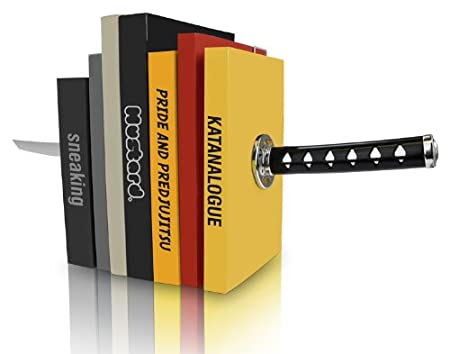 Mustard Book Ends - Katana Samurai Sword Bookends