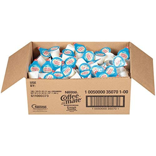 Nestle Coffee Mate Coffee Creamer, French Vanilla, Liquid Creamer Singles, 2 Cases of 180 each