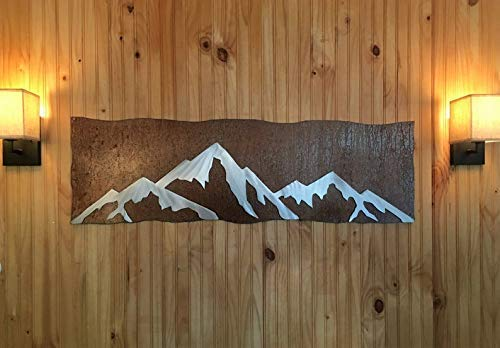 Unique Double Layer Mountain Metal Wall Art Hiking Skiing 14er Climbing Nature Fan Colorado Artist Home Decor