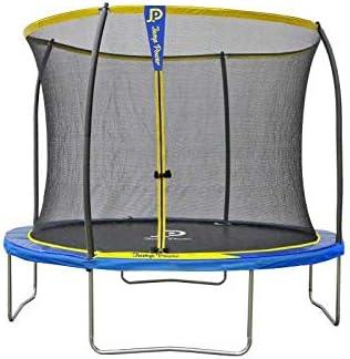 Starflex Jump Power - Cama elástica con Escalera y Cesta de Baloncesto, diámetro 305 cm, Unisex, Amarillo y Azul, diámetro: Amazon.es: Deportes y aire libre