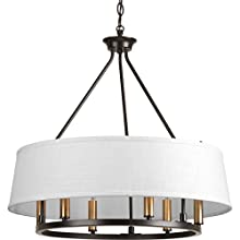 Progress Lighting P4618-20 Traditional/Formal 6-60W Cand Chandelier, Antique Bronze