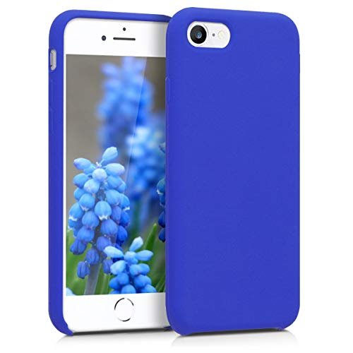 kwmobile TPU Silicone Case for Apple iPhone 7/8 - Soft Flexible Rubber Protective Cover - Royal Blue