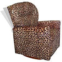 Dozydotes 10893 Contemporary All Cheetah Fabric Rocker Recliner