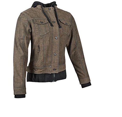 Speed & Strength 871177 Fast Times Womens Denim Jacket, Distinct Name: Brown/Black, Gender: Womens, Primary Color: Brown, Size: 2XL, Apparel Material: Textile by Speed and Strength