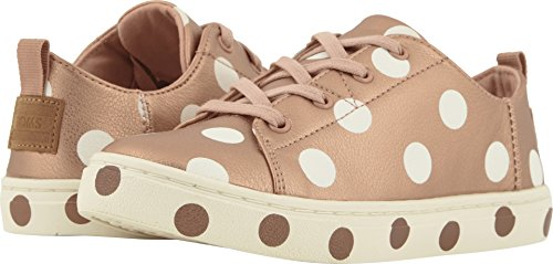 TOMS Kids Girl's Lenny (Little Kid/Big Kid) Rose Gold Pearlized Synthetic Leather/Dots 1 M US Little Kid -
