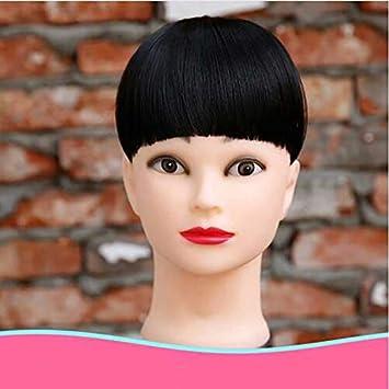 Amazon Com Aonmg Short Fake Bangs High Temperature Fiber Natural Synthetic Hair Fake Hair Fake Bangs Tidy Clip In Hair Pieces 2 6inches Beauty