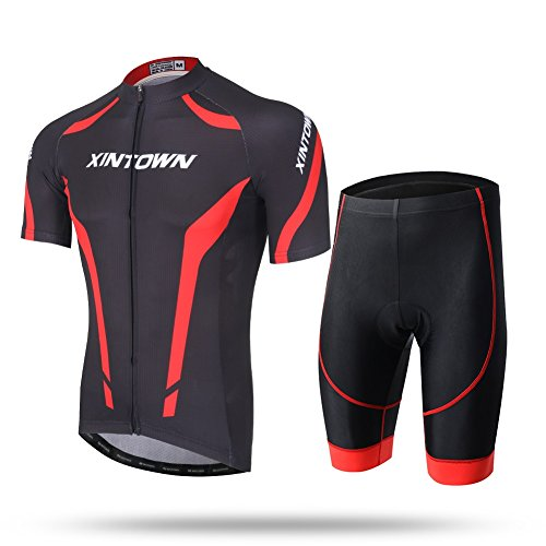 Unkoo Black Cycling Jerseys for Men Short Sleeve Mens Cycling Jerseys Short Long Sleeve Cycle Tops Mountain Bike MTB Shirt Reflective Biking Bicycle Clothes Great Cyclist Gifts High Visible and ()
