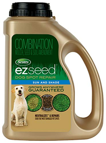 Scotts EZ Seed Dog Spot Repair Sun and Shade – 2 Lb., Mulch, Seed and Soil Amendment with Protectant and Tackifier…