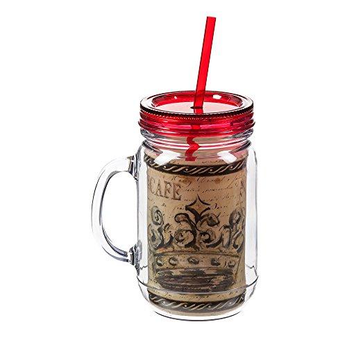 UPC 808412194122, Elegant Farmhouse Crown Mason Jar Insulated Travel Cup