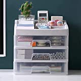 ZWL Cosmetic Storage Box, Large-Capacity Desktop