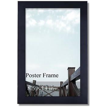 Amazon.com - ArtToFrames 8.5x14 inch Satin Black Picture Frame ...