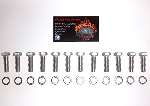Small Block Chevy Stainless Steel Intake Manifold Bolt Kit SBC
