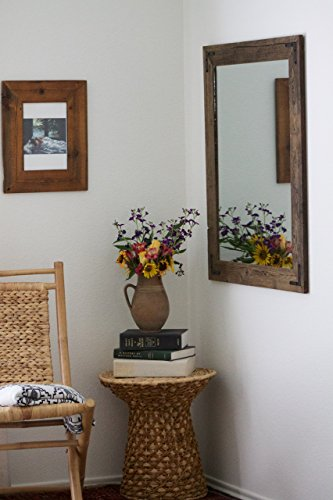 Rustic Wall Mirror – Large Wall Mirror – 30 x 36 Vanity Mirror – Bathroom Mirror – Rustic Mirror – Reclaimed Wood Mirror – Bathroom Vanity