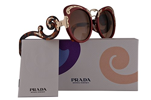 Prada PR07TS Sunglasses Red w/Brown Gradient 54mm Lens VAI1Z1 SPR07T PR 07TS SPR - Prada Case Sunglasses