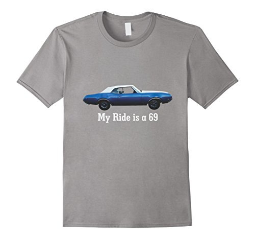 Mens Oldsmobile Cutlass 1969 Convertible Classic Car T-Shirt 2XL Slate Oldsmobile Cutlass Convertible