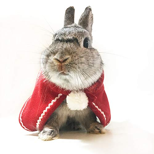 Belsun Bunny Rabbit Clothes Red Christmas for Pet