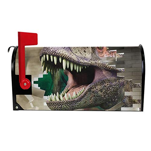 - LAIUE Dinosaur Break The Wall Mailbox Cover Weather Durability Standard Size