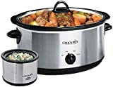 Crockpot SCV803-SS 8 quart Manual Slow Cooker with 16 oz Little Dipper Food