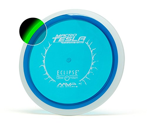 MVP Eclipse Glow Proton Macro Mini Tesla 15cm Disc Golf Mini Marker and Sport Disc [Colors may vary] (Disc Marker)