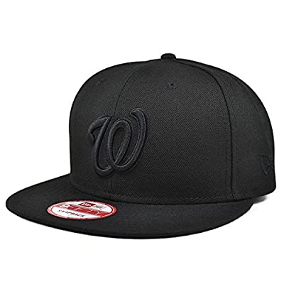 Washington Nationals Black on Black SNAPBACK 9Fifty New Era MLB Hat = OSFM