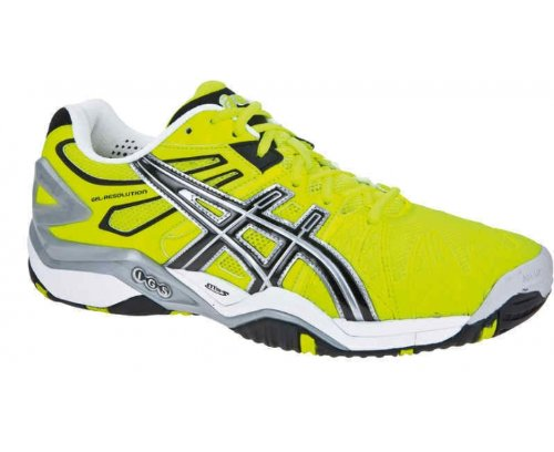 Asics GEL RESOLUTION 5 49 Herren Tennisschuhe EU 49 5 (US 14) Gelb ... d0ec40