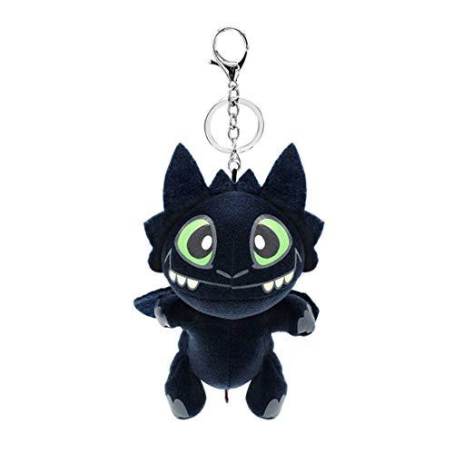 Toothless Keychain Key Ring for Bag Backpack, Mini Plush Toothless Toys for Kids (18CM)