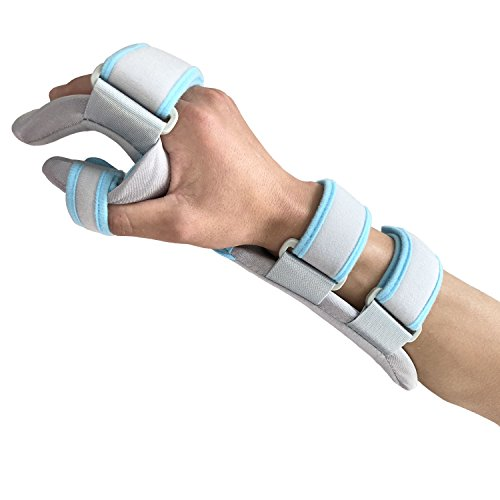 Hand Splint Functional Resting Wrist Support Moderate Stabilizing Brace for Carpal Tunnel, Tendinitis & Inflammation, Hand/Wrist/Thumb Immobilization, Forearm Wrist Splint, Right, ()