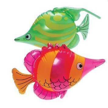 (CVN Set of 6 Bright, Colorful Tropical Fish Inflates / 16