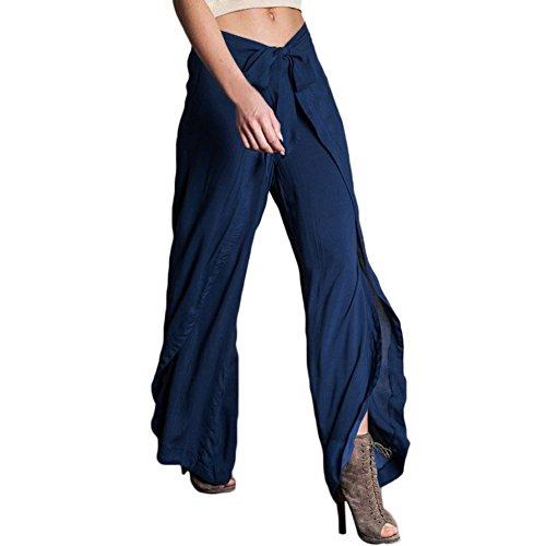 Donna Larghi Blu FuweiEncore Forti Colore Donna Taglie Blu M Dimensione Pantaloni Pantaloni Lunghi z0rq0ntx