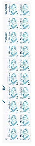 Mary Lyon Plate Block of 20 x 2c Stamps - Scott ()